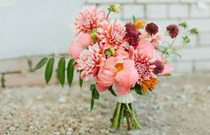 Dahlias and peonies | Bows and Arrows
