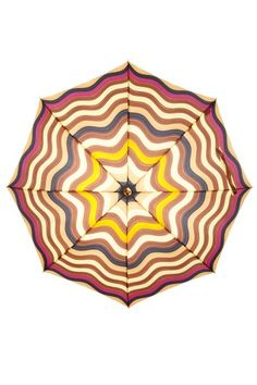 Missoni Umbrellas  Onda 3 Stick Automatic Wood Handle Long Umbrella