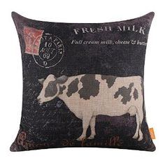 Proud Farmer Rooster Tractor 6 x 12 Burlap Decorative Throw Pillow