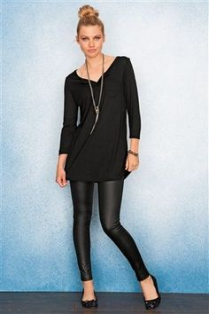 Buy Plain Tunic from the Next UK online shop £16 Black Tunic, Sporty, Shades, Cute Outfits, Pretty, Stuff To Buy, Black Trousers, Plain Black, Shopping