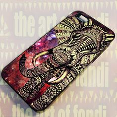 aztec Tribal elephant - For IPhone 4 or 4S Black Case Cover