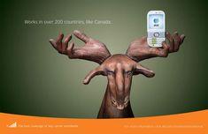 Canada :Publicité mondiale de téléphones
