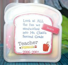 Fun Idea for the Class to give to their teacher at the end of the year. Going to have each child write one memory (something they enjoyed about the school year) and give it to the teacher at the end of the year.