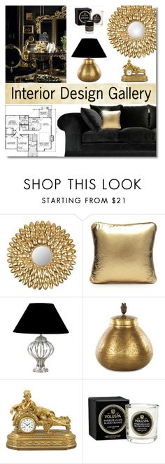 """""""Interior Design Gallery Icon Contest"""" by truthjc ❤ liked on Polyvore featuring interior, interiors, interior design, home, home decor, interior decorating, Safavieh, SCENERY, Eichholtz and NKUKU"""
