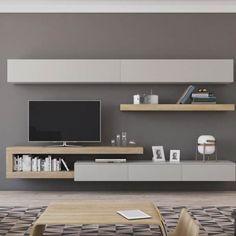 Living Room Wall Units, Living Room Tv Unit Designs, Home Living Room, Living Room Decor, Tv Unit Furniture, Home Decor Furniture, Furniture Design, Home Room Design, Home Interior Design