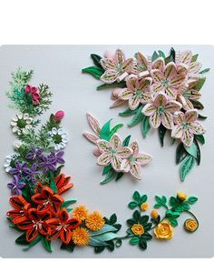 AZALEAS IN EARLY SUMMER  Was blooming in a circle was blooming azalea flowers in early summer were blooming Artist certified instructor in 2011 Yoshiko Arai BQJ - Botanical Quilling Japan