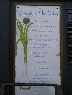 The philosophy of Alice Waters, Edible Schoolyard, Berkeley, California.