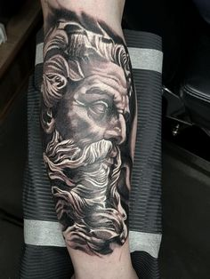 Greek Mythology tattoo by Edoardo. Limited availability at Redemption Tattoo Studio.