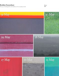 My timeline on Twitter is a continual source of inspiration... and Rothko Everywhere is a prime example of this. Not content with just making awesome ambient soundscapes... James Fahy aka ambienteer sees the work of abstract expressionist painter Mark Rothko hidden in the everyday world... and brings it to life for others to share in.