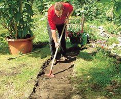 Gartenweg anlegen – Schritt 1 von 9
