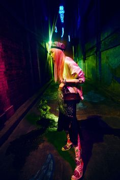 EDITORIAL: Fernanda Ly in Grazia Australia September 2016 by David Mandelberg - Neon Nights - Photography: David Mandelberg, Model: Fernanda Ly, Styling: Aileen Marr, Hair: Anthony Nader, Make-Up: Peter Beard. Urban Fashion Photography, Night Photography, Editorial Photography, Pixel Photography, Top Model Poses, Neon Nights, Fashion Poses, Fashion Editorials, After Dark