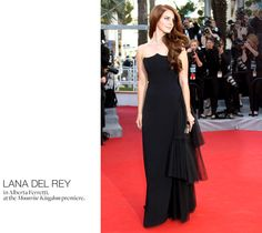 I know I pinned it before, but it worth pinning it again because Lana del Rey dressed in Alberta Ferretti was Gorgious!  The Cannes Catwalk