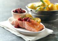 Recept: gegrilde Zalm met pittige cranberry saus