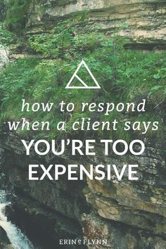 """If you've been in the design business for a while, you've likely heard this from potential clients before, """"you're too expensive!"""" or something to that effect, anyhow. So what do you do? Click through to read the post and learn how to respond when a client says you're too expensive!"""