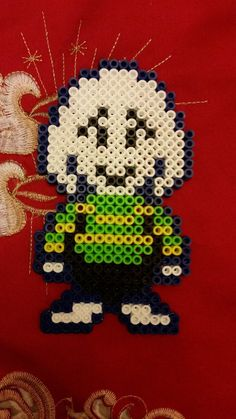 Asriel Undertale Perler Beads by Chrismilesprower