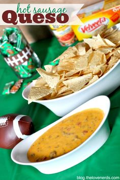 Hot Sausage Queso -