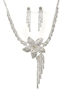 BESTSELLER! Shooting Star New Jewelry Set - Bridal Formal Prom: Silver with Imported Crystal / Rhinestone $16.49