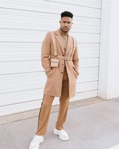 Beige Outfit, Suit Fashion, Mens Fashion, Fashion Outfits, Fashion Black, Urban Fashion, Street Fashion, Mode Streetwear, Streetwear Fashion