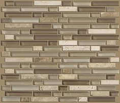 "Imagine this installed as your backsplash in your new kitchen.. Love it! Tile by Shaw Floors in style ""Mixed Up 5/8 Linear Random Mosaic Stone"" color Canyon.. Great blend of neutral gray and taupe colors"