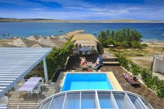 beach front Vacation rental in Novalja, island Pag, Croatia - Adriatic sea - Zrce beach- Apartment - condo rental with swimmingpool Adriatic Sea, Under Construction, Croatia, Condo, Island, Vacation, Beach, Outdoor Decor, House