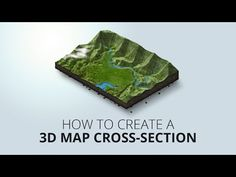 How to create an 3D map cross-section - YouTube