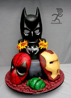 marvel themed cakes | SuperHeros Cake