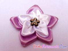 Flores de tecido - cetim