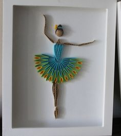Quilled Ballerina framed wall art by Especially4UHandmade on Etsy