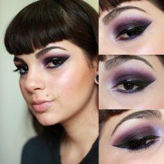 Maquiagem do dia: Dark Purple Eyes  http://www.decoturnoespikes.com.br/