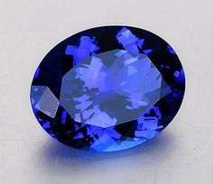 Zoisite Gems: Tanzanite his violetish-blue tanzanite is an exceptional faceted oval weighing 8.14 carats and measuring 14.4 x 10.5 x 7.6