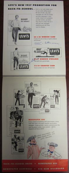 Levis Dealers Advertising Catalog, 1957 #4