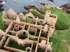 Slains Castle ~ Scottish Highlands - When in financial difficulty in the early years of the 20th century, the castle was sold to Sir John Ellerman, a Glasgow shipowner, who saw it purely as a profit opportunity and dismantled it for architectural salvage.