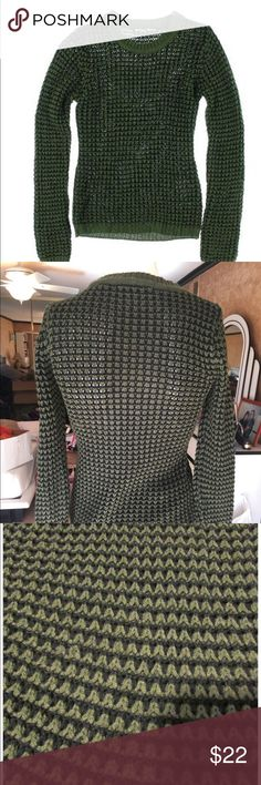 Planet Gold women's/juniors sweater XS Brand new two tone crew Sweater long sleeve, Green/Black Color size XS. Planet Gold Tops