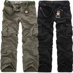 Promo Offer 2018 High Quality Men's Cargo Pants Casual Loose Multi Pocket Military Pants Long Trousers for Men Camo Joggers Plus Size Army Cargo Pants, Military Pants, Military Clothing, Military Army, Military Style, Camouflage Pants For Men, Work Trousers, Work Pants, Shirts