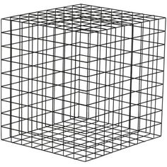 Award Winner Geometric Black Grid Squared Minimalist Side Table ($641) ❤ liked on Polyvore featuring home, furniture, tables, accent tables, black, side tables, black side table, black chairside table, black table and geometric end table