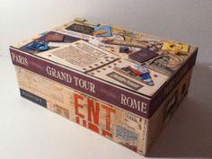 Custom Bon Voyage Keepsake Box