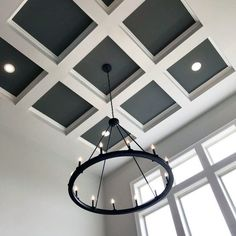 Discover grids of beams with the top 50 best coffered ceiling ideas for your home. Explore sunken panel designs and add architectural detail to any room. House Ceiling Design, Ceiling Design Living Room, Bedroom False Ceiling Design, Home Ceiling, Ceiling Decor, Ceiling Ideas, House Design, Best False Ceiling Designs, Down Ceiling Design