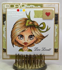 Copic Marker Sweden ~Hair-W5-3 E27-25-21-49 Skin E13-11-21-00-000-R11-20 Green YG97-95-93 Eye E27-25-23 Mouth E19.