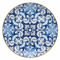 Shop at Vista Alegre online store luxuriuos fine china, crystal, glass, dinner sets, home decor and gifts. Hand Painted Plates, Decorative Plates, Fruit Plate, Blue Pottery, China Painting, Blue China, Dinner Sets, Decoration Table, White Porcelain