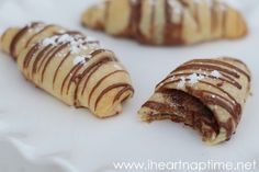 Chocolate dessert crescent rolls with a symphony bar in the middle... YUM! iheartnaptime.net chocolate desserts