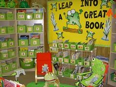 So I just freaked out looking at this website (I plan to have a frog themed room) and this teacher just took it to a whole new level!  Aww...a reading pad!  Love!