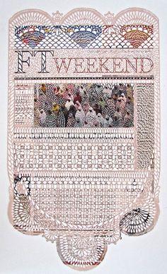 Les créations de l'artiste canadienneMyriam Dion, qui transforme des pages de journaux en de magnifiques et délicates dentelles de papier, ...
