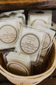 The Fall Collection Wax Melts Best Wax Melts, Diy Wax Melts, Scented Wax Melts, Diy Candle Labels, Candle Packaging, Mason Jar Candles, Soy Candles, Scented Candles, Wax Tablet