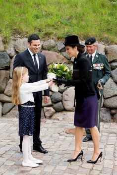 HRH Crown Princess Mary participated in the ANZAC Day service at the Citadel in Copenhagen. on Saturday, 25 April 2015.