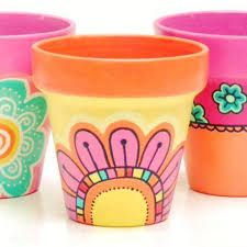 Risultati immagini per yuki deco Pots D'argile, Clay Pots, Clay Cup, Painted Plant Pots, Painted Flower Pots, Clay Pot Crafts, Diy Clay, Talavera Pottery, Posca