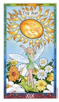 June 25 Tarot Card: The Sun (Whimsical deck) Positivity, possibility, and joy infuse your world now; lighten your heart and take it all in! The Sun Tarot Card, Fortune Telling Cards, Tarot Major Arcana, Tarot Card Meanings, Oracle Cards, Happy Smile, Tarot Decks, Deck Of Cards, Tarot Cards