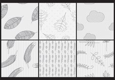 Hand Made Vector Patterns 121560 -  Textures and backgrounds are an important part of the design, decorate the background of your projects, printed supports and publications with this set of six black and white hand made patterns, you can edit the size and color of this elements and use like a mosaic texture.  - https://www.welovesolo.com/hand-made-vector-patterns-3/?utm_source=PN&utm_medium=weloveso80%40gmail.com&utm_campaign=SNAP%2Bfrom%2BWeLoveSoLo