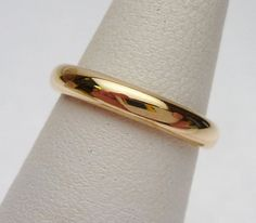 18kt Composite Gold Wedding Band 1915 by KlinesJewelry on Etsy, $125.00