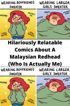 #Hilariously Relatable Comics About A #Malaysian Redhead (Who Is #Actually Me) Funny Corny Jokes, Dark Humor Jokes, Funny School Jokes, Wtf Funny, Funny Tweets, Funny Laugh, Funny Facts, Funny Quotes, Hilarious Memes
