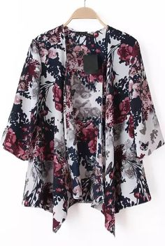 Shop White Half Sleeve Floral Loose Kimono online. SheIn offers White Half Sleeve Floral Loose Kimono & more to fit your fashionable needs.